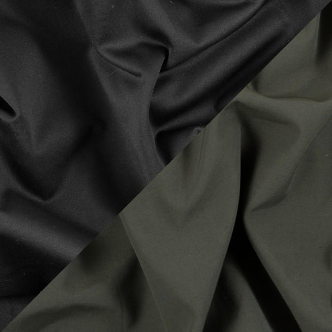 army green black polyester double cloth 310626 11