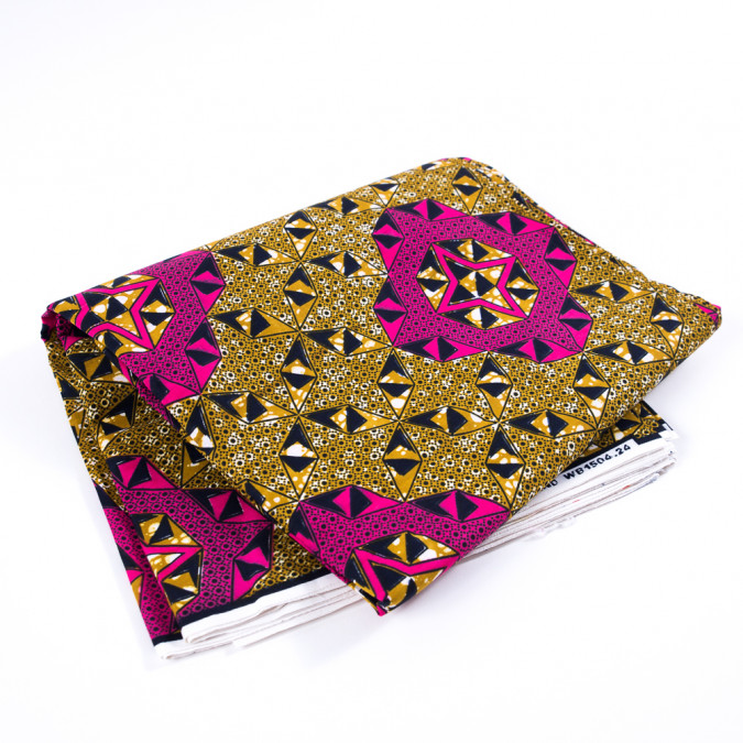 arrowwood and beetroot purple geometric waxed cotton african print 313264 11