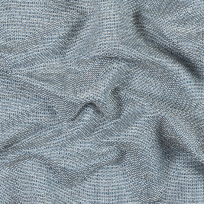 baby blue and silver lining cotton and rayon tweed 314160 11