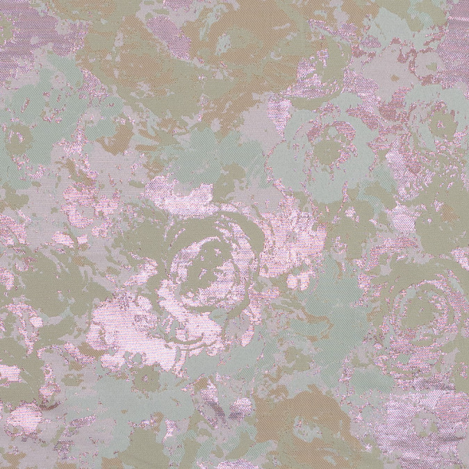 beige pista green and metallic pink abstract jacquard 318329 11
