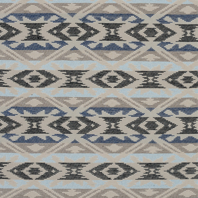 beige and blue tribal blended cotton woven 318619 11