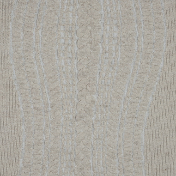 beige and white novelty virgin wool knit with chunky knit design 318458 11