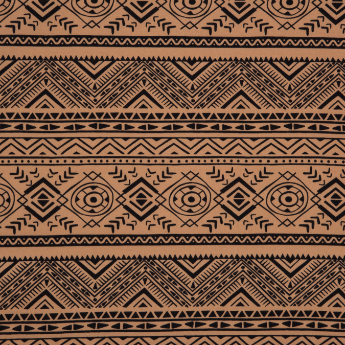 beige black geometric tribal printed polyester woven 309885 11