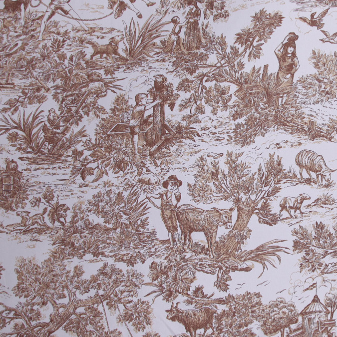 beige toile cotton print fc19351 11