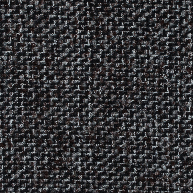 black brown and gray boucled wool tweed 315223 11