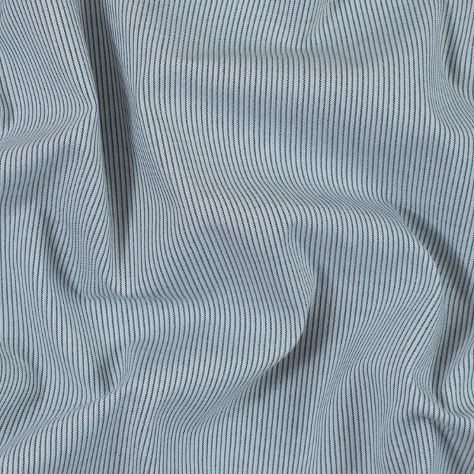black white and baby blue pinstriped stretch shirting 314167 11