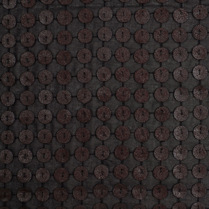 black and brown circular sequined novelty polyester woven 307907 11