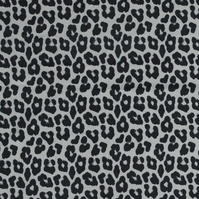 black and off white leopard printed silk chiffon 318741 11