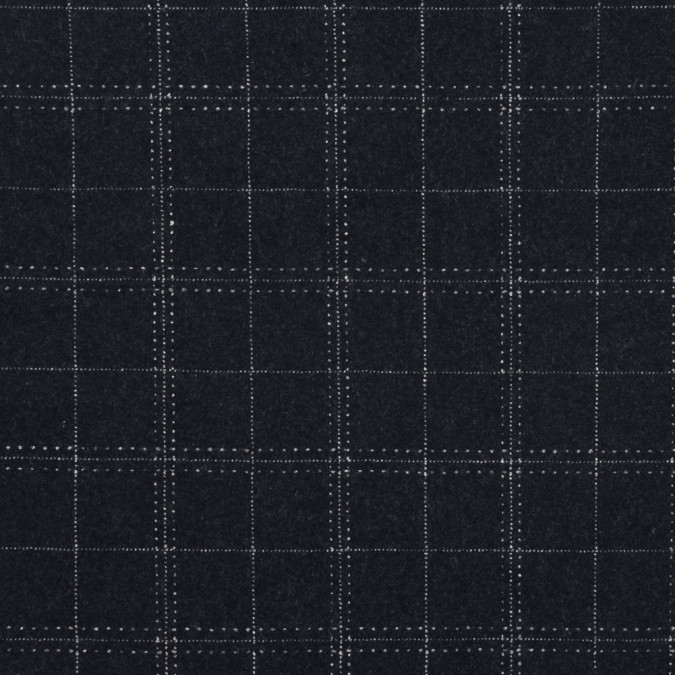 black and white checkered felted wool coating 317865 11