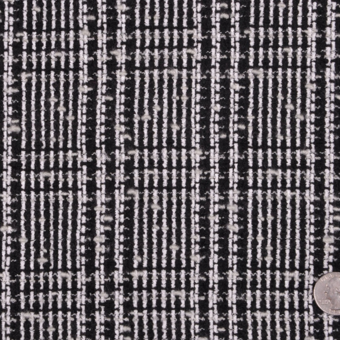 black and white plaid wool boucle fw12169 11