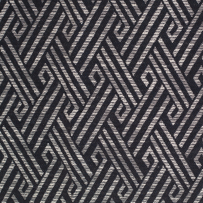 black and white tribal geometric cotton polyester jacquard 305518 11