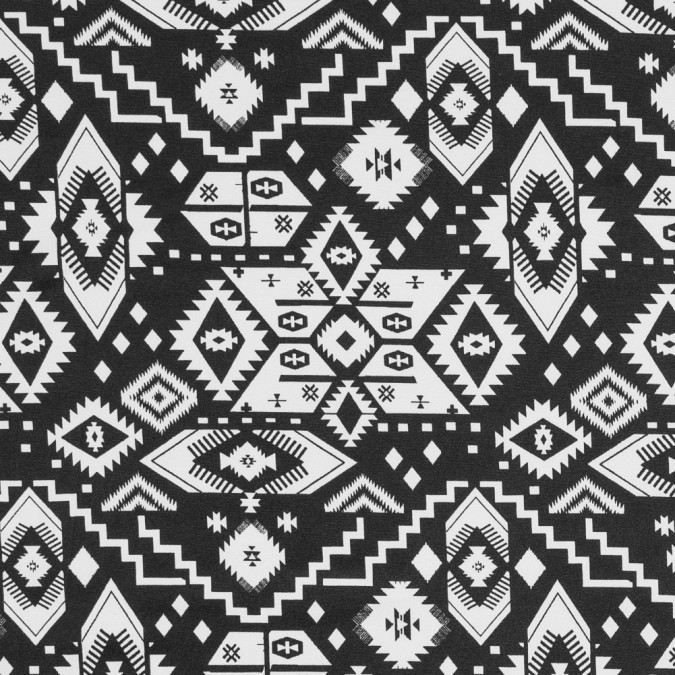 black and white tribal printed polyester jersey 317273 11