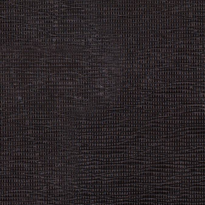 black crinkled laminated polyester novelty knit 307801 11