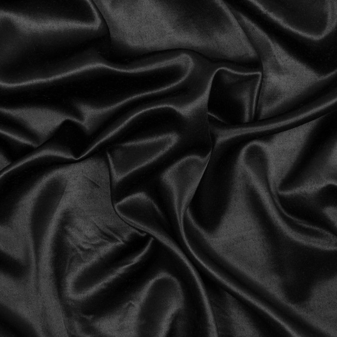 black fluid satin with soft backing 317405 11