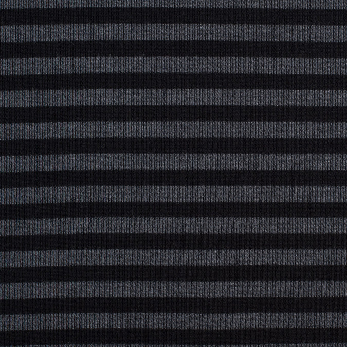 black gray striped polyester rayon rib knit 112560 11