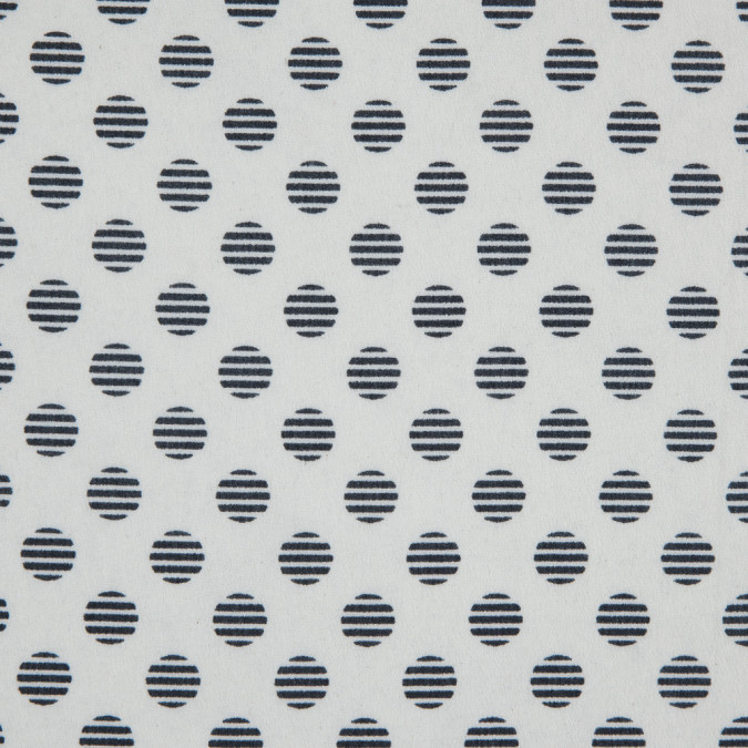 black off white striped polka dots on a crepe de chine 311708 11