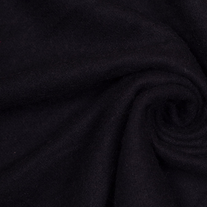 black single faced thick wool fleece 305912 11