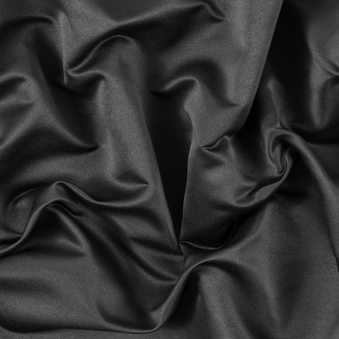 black solid polyester shantung 311146 11