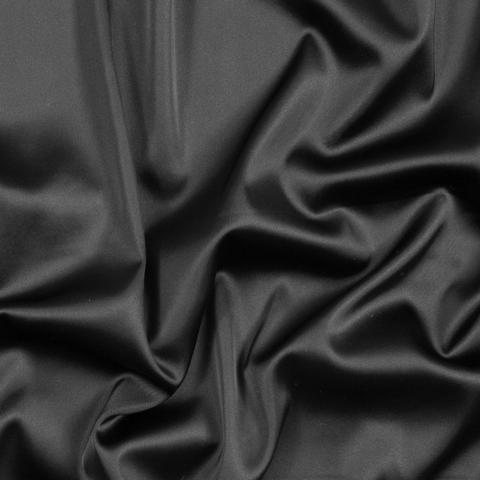 black stretch satin with midnight navy backing 317390 11