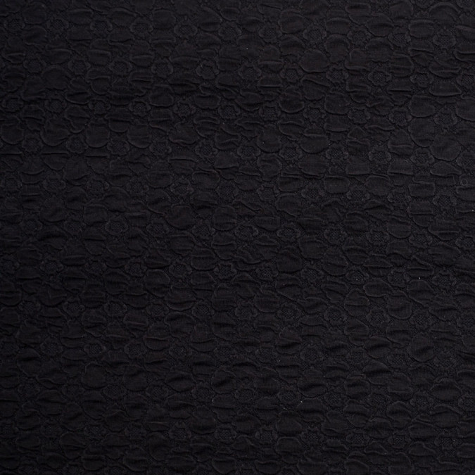 black stretch viscose nylon novelty knit 306505 11