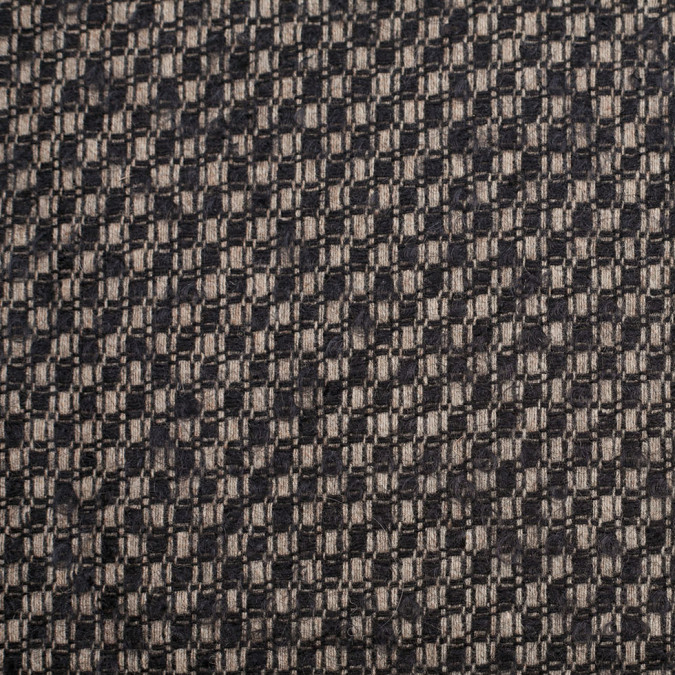 black taupe checkered wool woven 306516 11