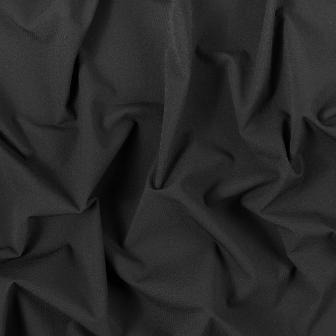 black textural polyester knit with wicking capabilities 312556 11