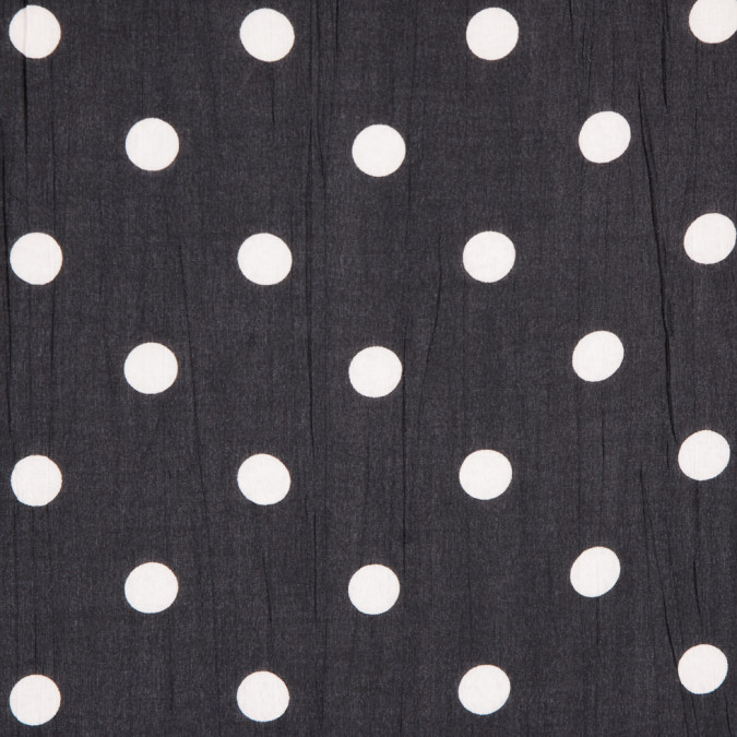 black white polka dotted crinkled cotton woven 309678 11