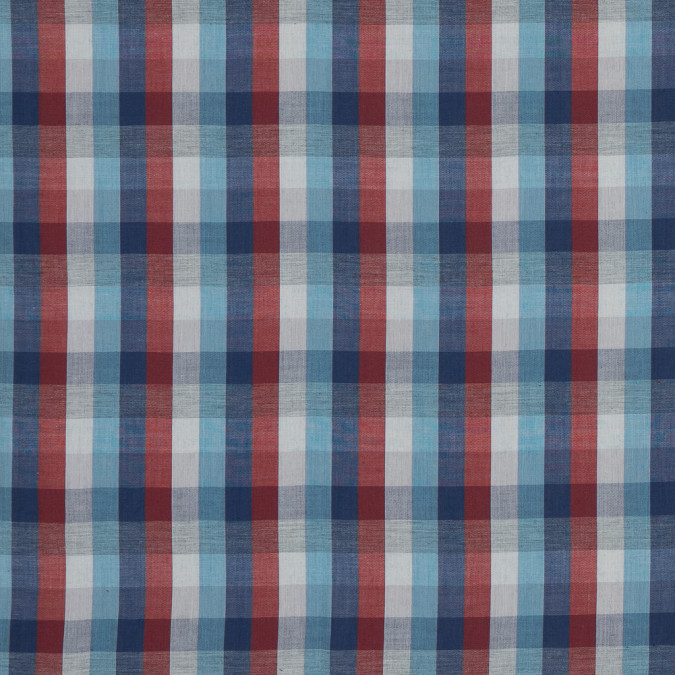 blue red and gray plaid cotton voile 318794 11