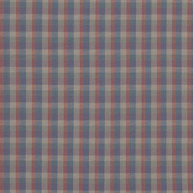 blue red and yellow plaid cotton shirting 318851 11