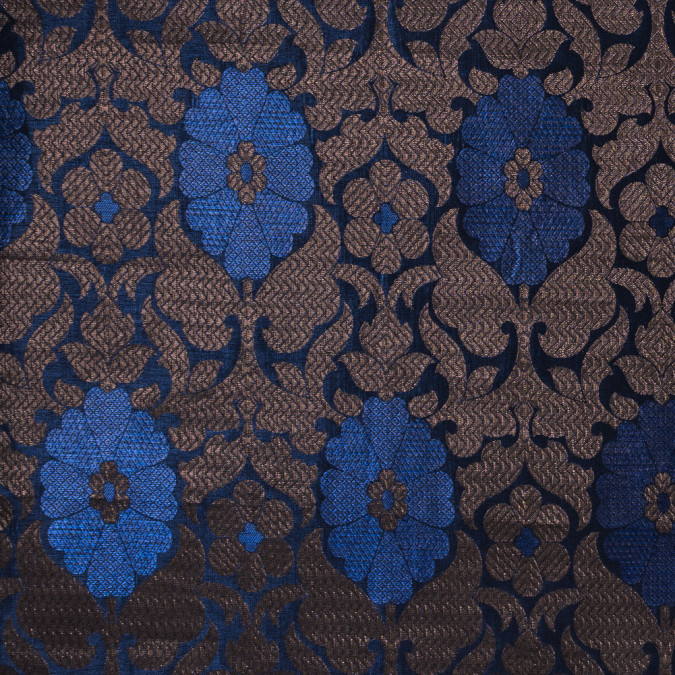 blue and metallic copper geometric floral jacquard 318327 11