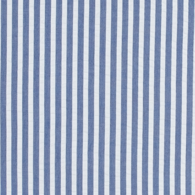 blue and white bengal striped cotton seersucker 316987 11