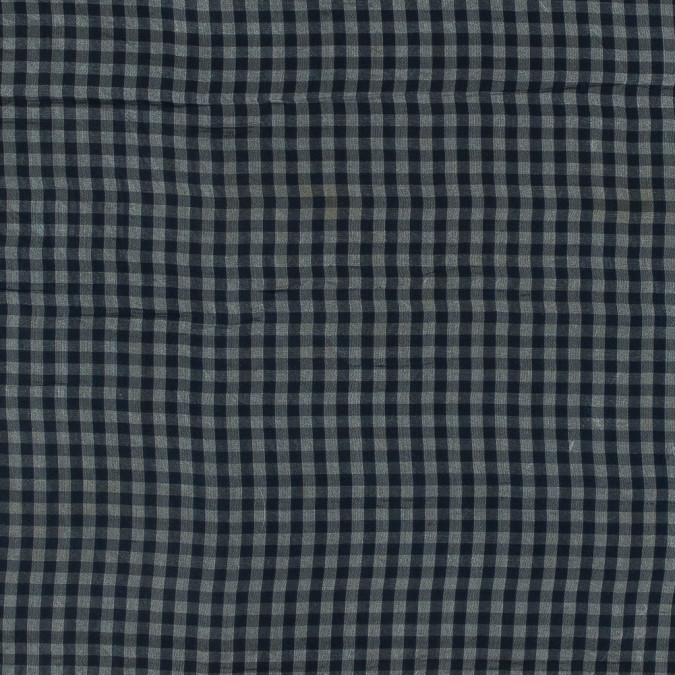 blue and white gingham printed silk organza 315942 11