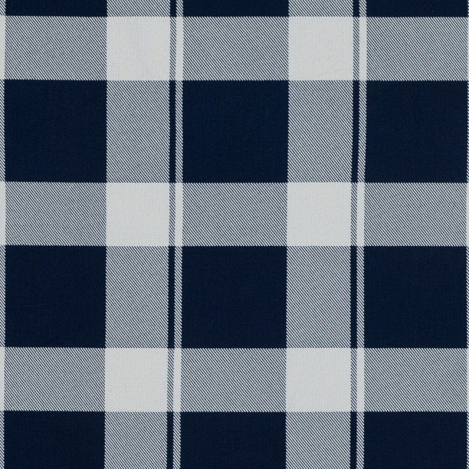 blue and white plaid japanese cotton shirting 318877 11