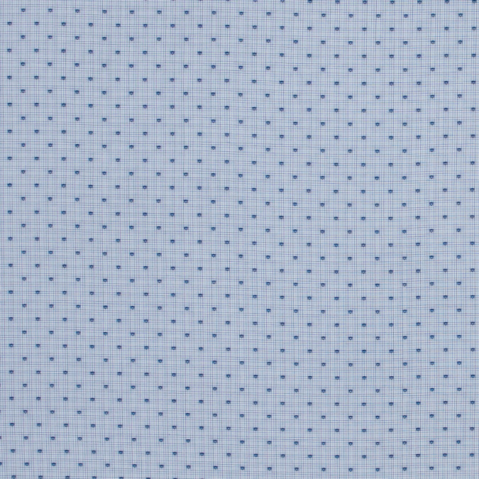 blue and white tattersall checkered shirting with shield polka dots 118419 11