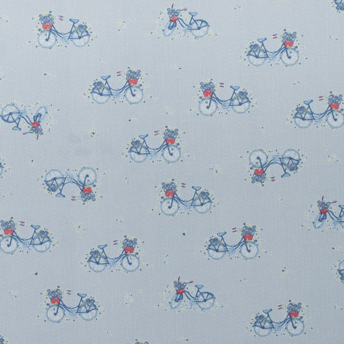 blue bicycle printed cotton poplin 310739 11