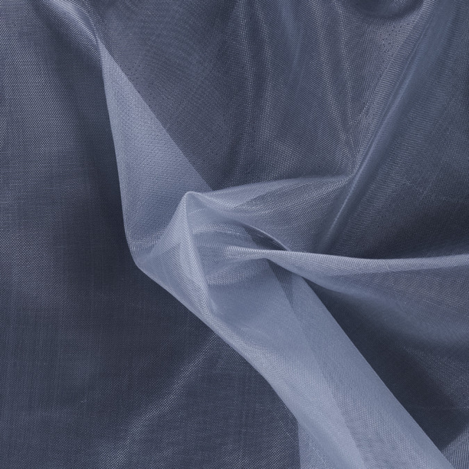 blue gray stiff polyester organdy 115998 11