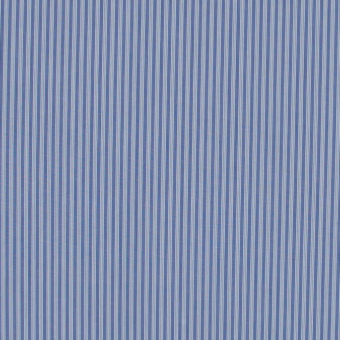 blue iris and white striped cotton shirting 317207 11