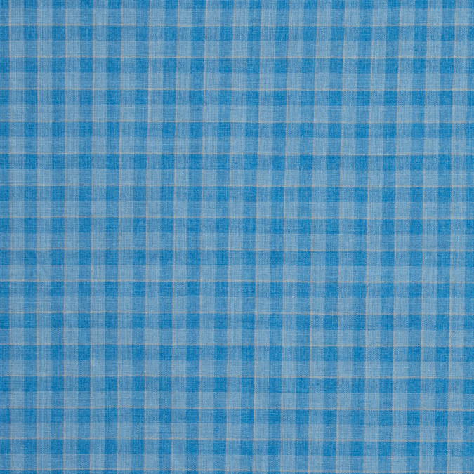 blue jay plaid medium weight linen woven 317588 11