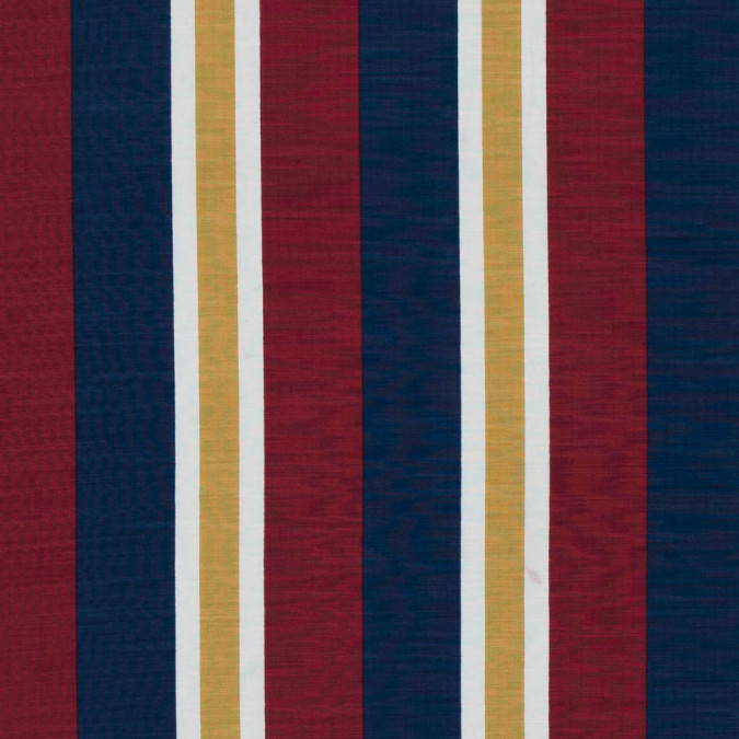 brick red honey and blue striped polyester imitation dupione 313471 11