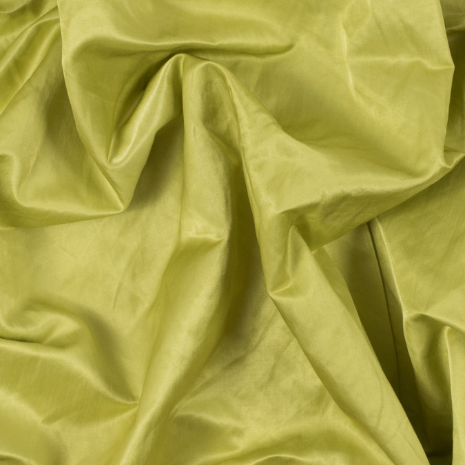 bright chartreuse solid wrinkled satin 312212 11