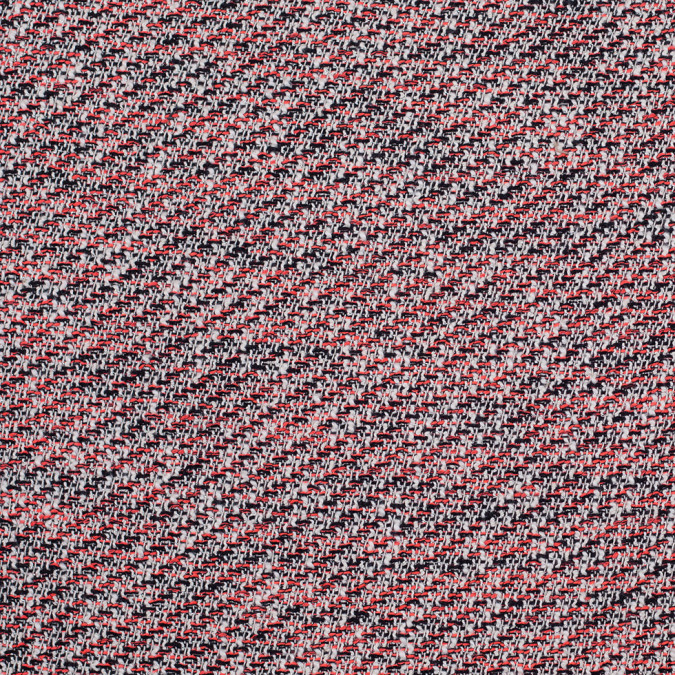 bright coral and black metallic tweed 304304 11