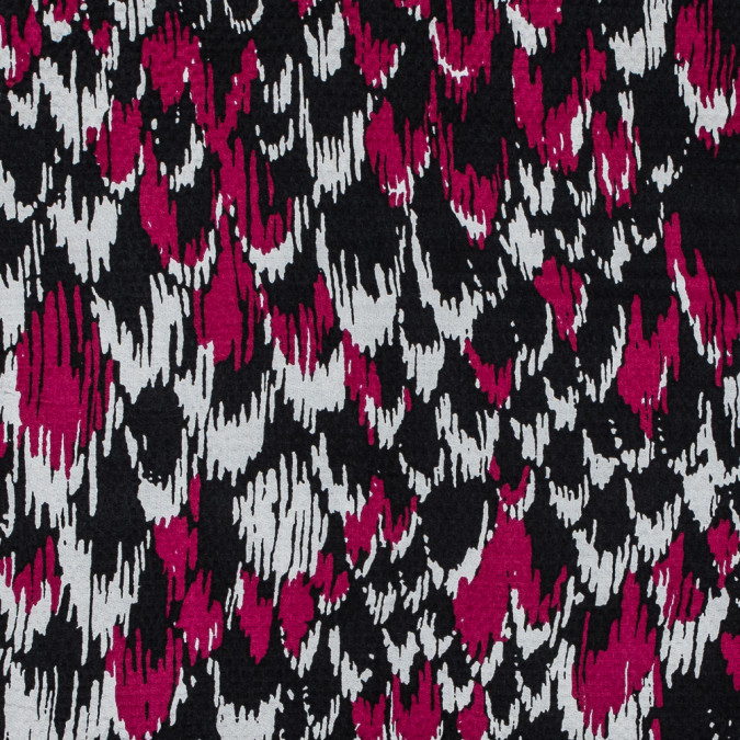 bright rose and black abstract hammered silk charmeuse 315708 11