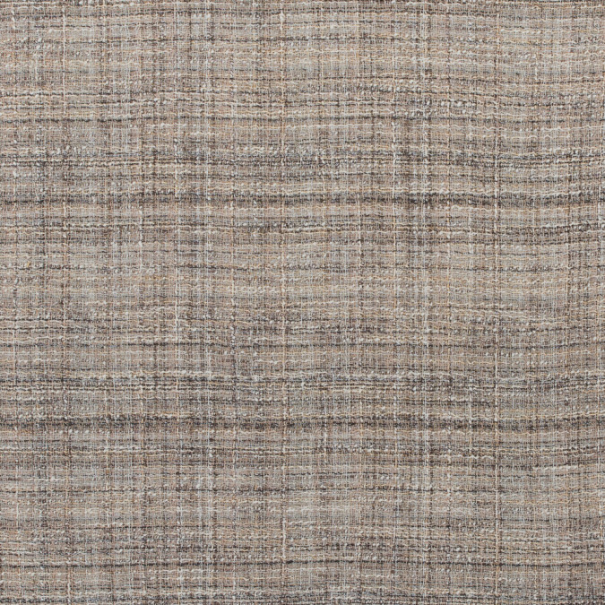 brown ivory creped and blended loosely woven tweed 311568 11