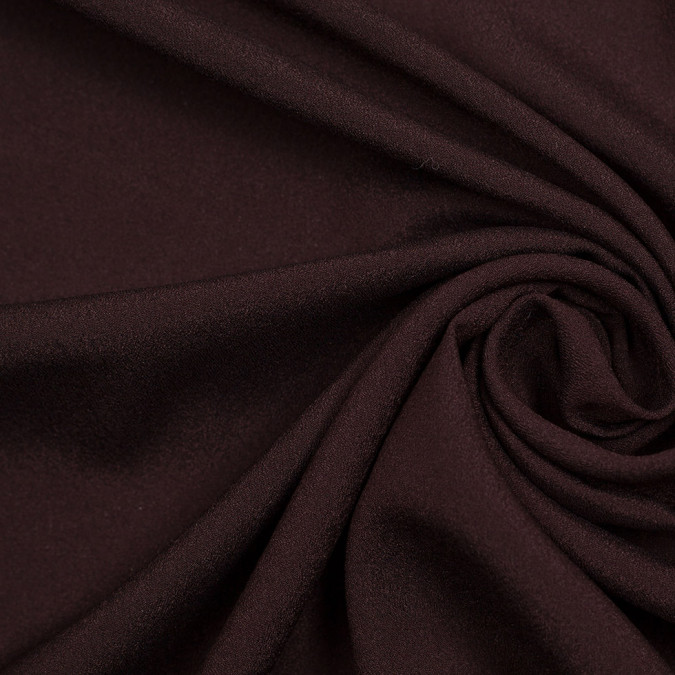 brown mechanical stretch polyester crepe de chine 306652 11