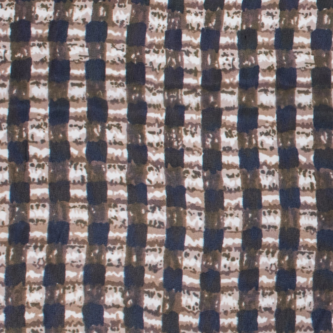 brown olive navy abstract gingham polyester chiffon 311767 11