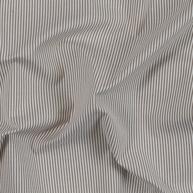 brownie and white candy striped stretch cotton woven 314143 11