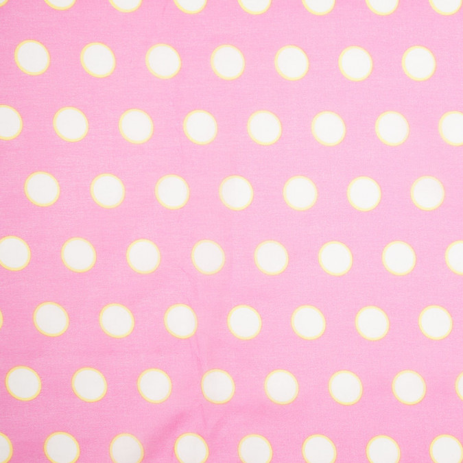 bubble gum pink polka dot cotton voile 307931 11