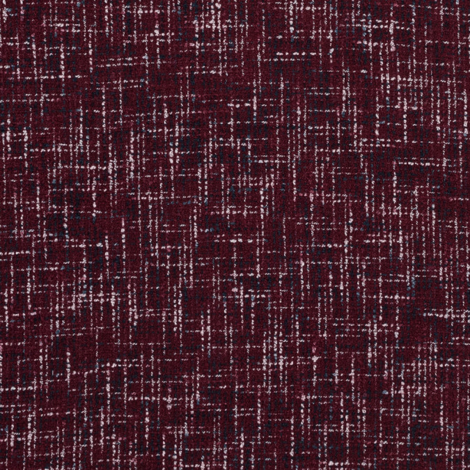burgundy navy and white blended tweed 315990 11