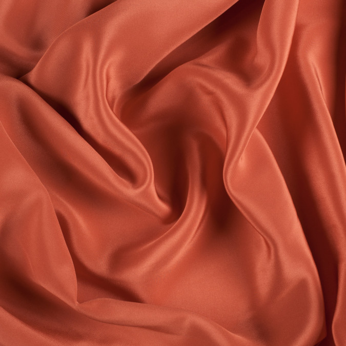 burnt orange silk crepe de chine pv1200 166 11