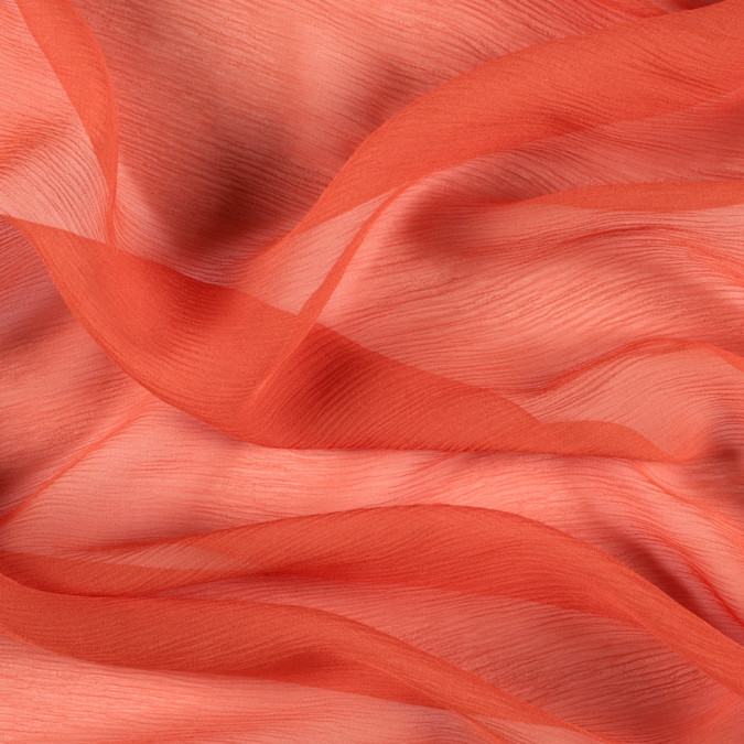 burnt orange silk crinkled chiffon pv5100 166 11